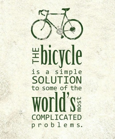 The Bicycle Is A Simple Solution…