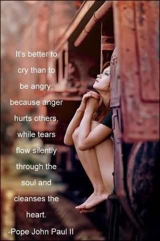 Cry anger quotes