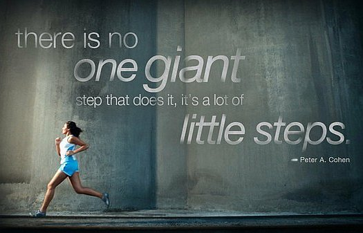 there is no one giant but lots of little steps quote