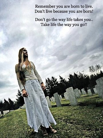 Take Life The Way You Go Quote Picture Best Quotes For Life And Death