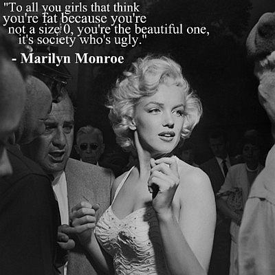 Marilyn Monroe saying about ugly quote