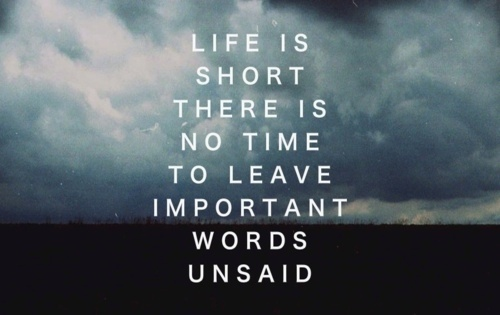 Dont Leave Important Words Unsaid Quote Picture Fascinating Important Life Quotes