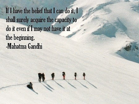 Snow, expedition belief quote