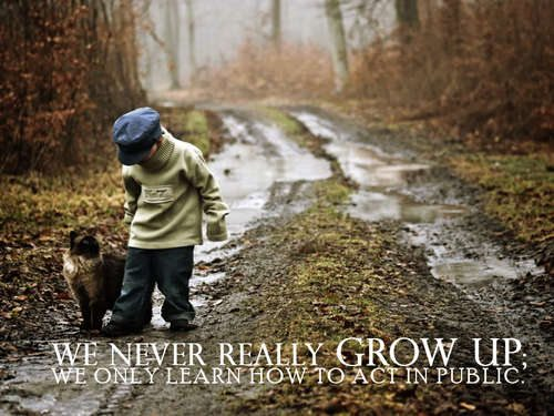 kid and dog growing up quote