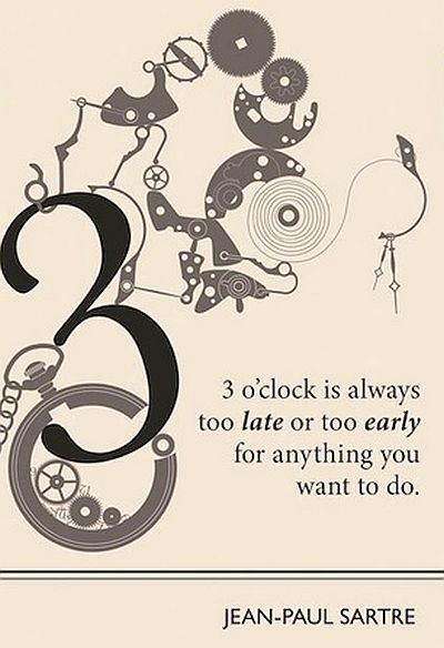 three o clock jean paul sartre art quote