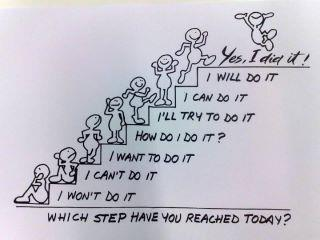 Which step have you reached today quote