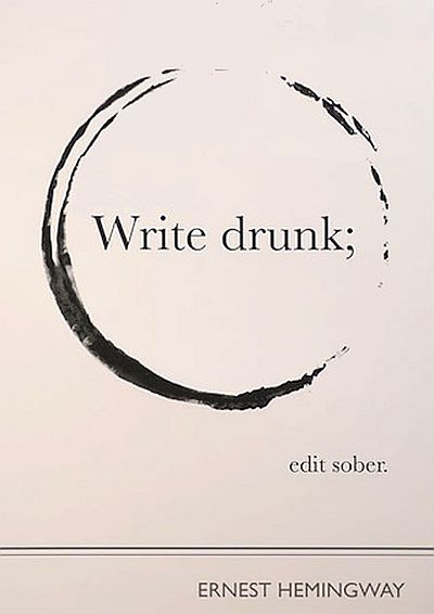 write drunk quote