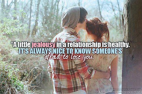 A Little Jealousy In A Relationship