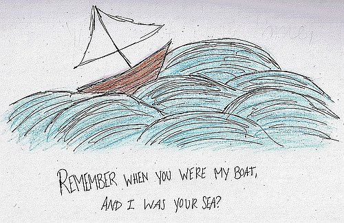 Boat Sea with Quote