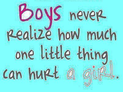 Boys hurt girl quotes