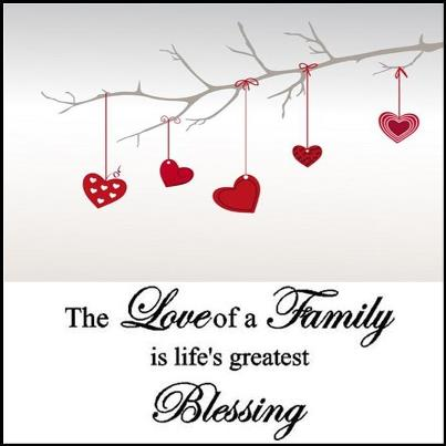 Image of: Wall Decal Love Blessing Family Quotesland The Love Of Family Quote Picture