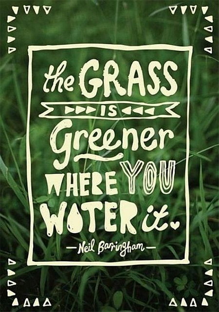 green grass quote