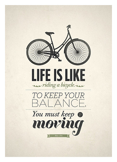 life is like riding a bike quotation