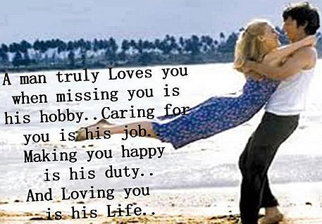 A man truly loves you