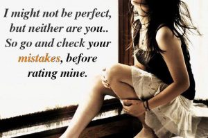 I might Not be Perfect