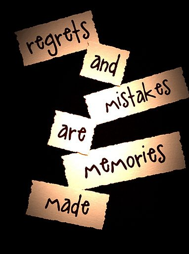Regrets And Mistakes | Quote Picture
