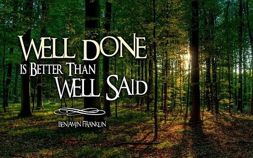 well done benjamin franklin quotes trees