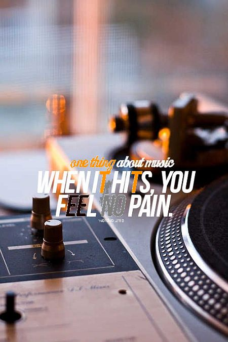 About Music - Pain Quote