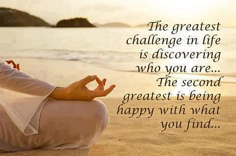Be happy and discover yourself - quote