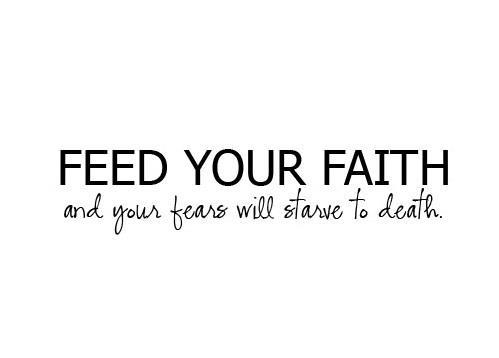 Faith fears picture quote