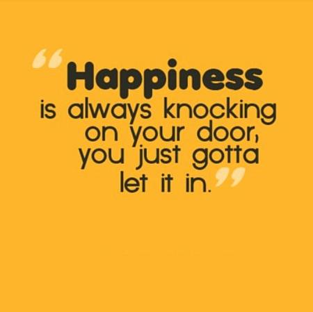 Happiness on Your Door - Quote