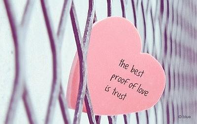 Proof of love, trust