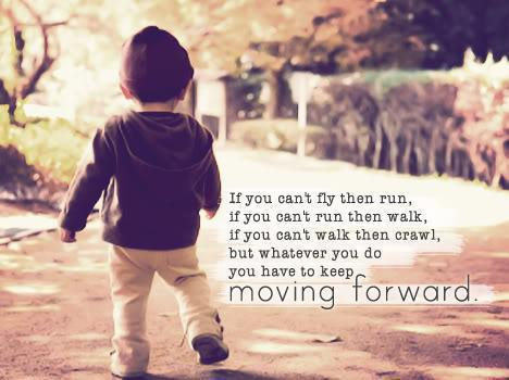 Quote about moving forward
