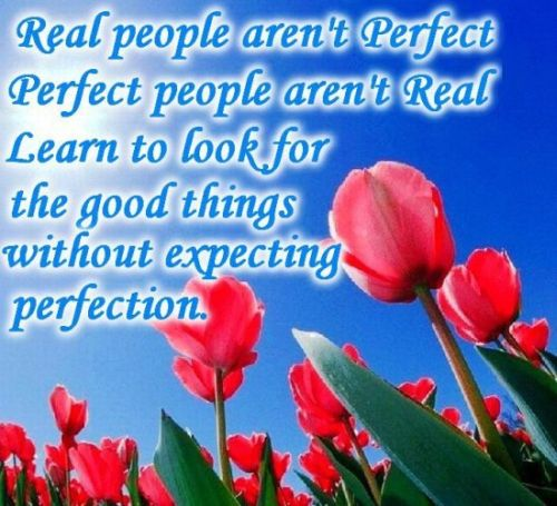 real people - perfection quote