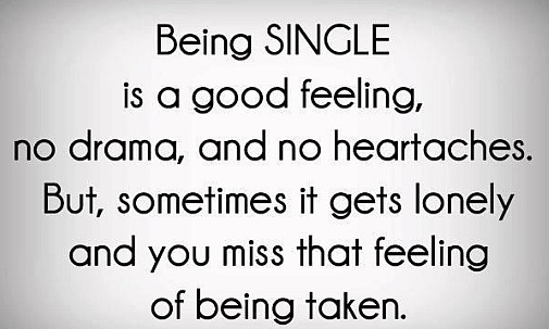 About Being Single | Quote Picture