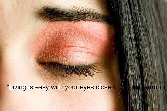 Closed Eyes Quote