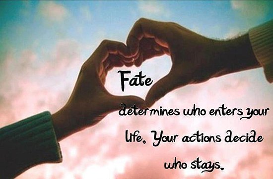 Your Actions Decide Who Stays
