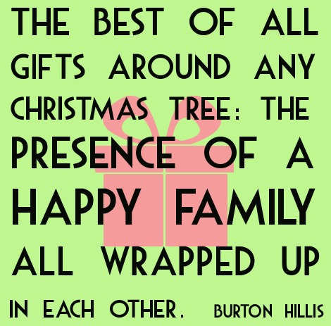 Happy Family Christmas Quote