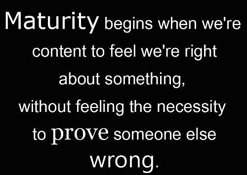 When Does Maturity Begin?