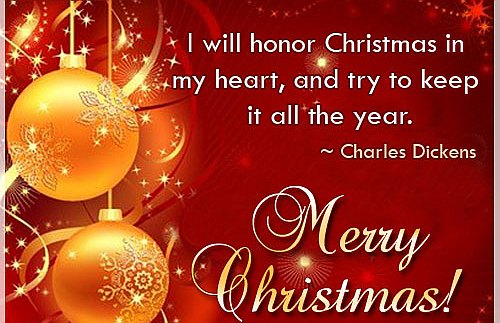Merry Christmas Charles Dickens Quotes