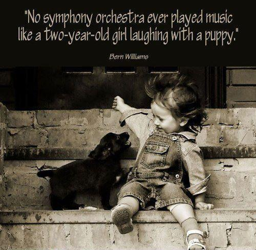 Puppy and Girl Quote