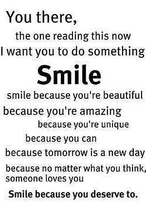 you there smile quote picture