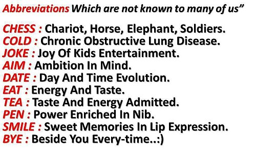 Unknown Abbreviations