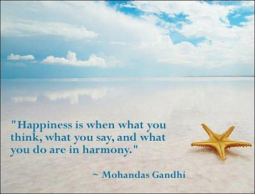 What is Happiness by Gandhi