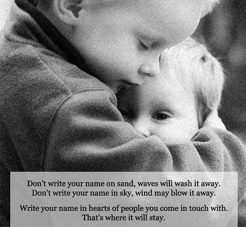 Write your name - Inspirational quote