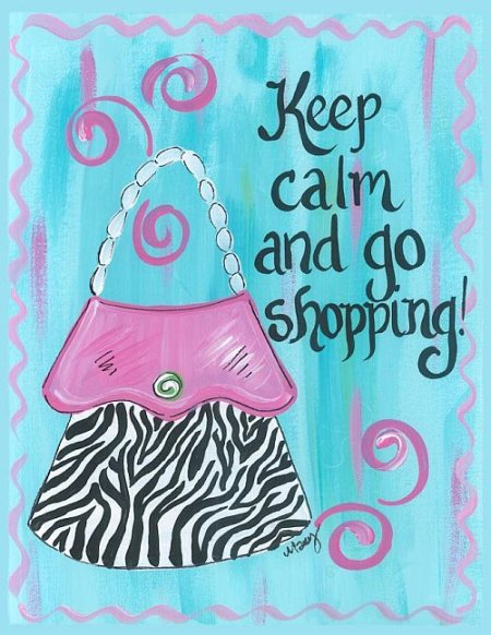 keep calm Shooping Quote