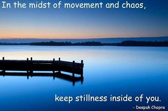 Be Calm Stillness Quote