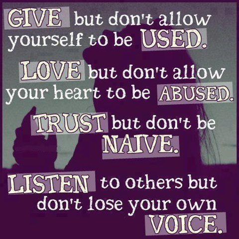 Give But Don't Allow Yourself To Be Used