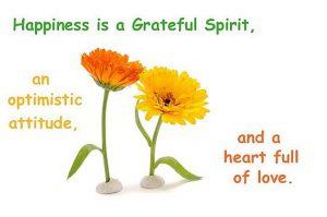 Happiness Is A Grateful Spirit