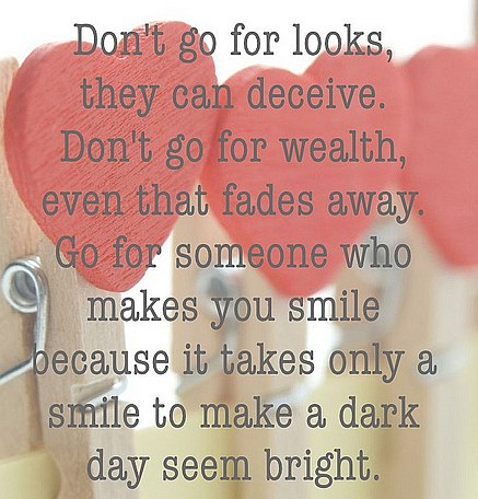 Love smile quote