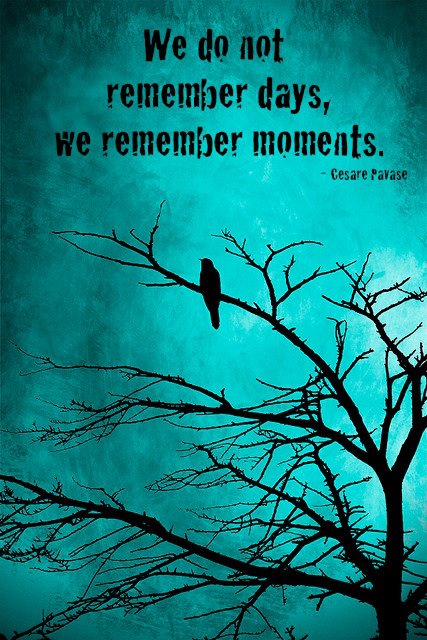 Remember moments quote