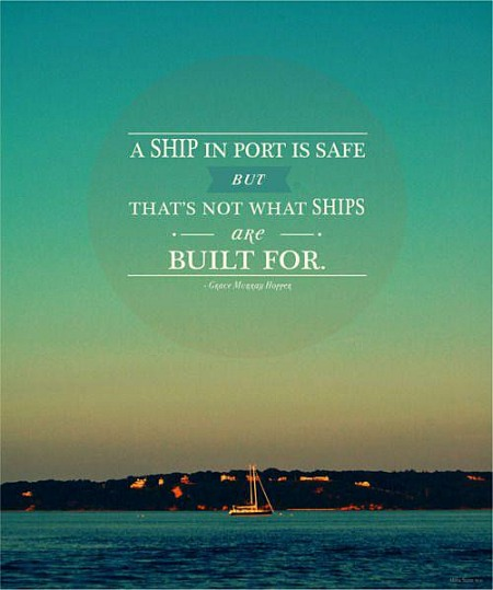 Ship Quotes Alluring A Ship In Port Is Safe  Quote Picture