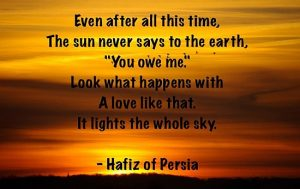 The Sun Never Says To The Earth