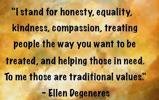 Traditional values quote