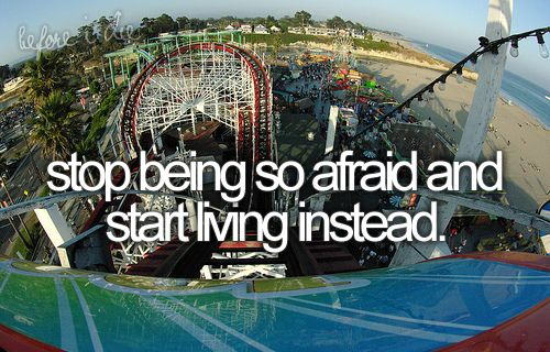 Being afraid motivational quote