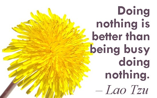 Doing nothing quote